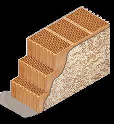 Кладка стены из керамических блоков KERAKAM 51 с декоративной фасадной штукатуркой